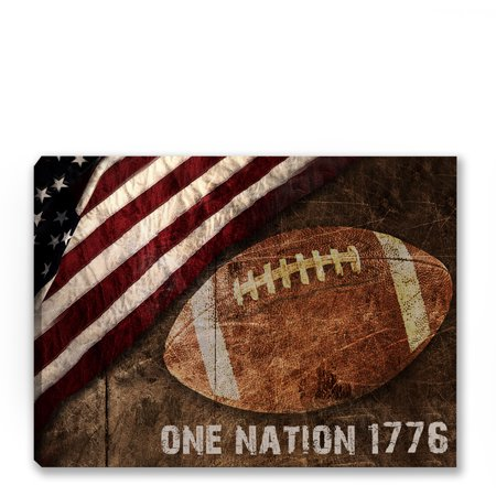 Awkward Styles Football Canvas Art Football Canvas Poster for Fitness Club Football Team American Sport Style Football Fans Nifty Gifts for Him Patriotic Printed Canvas American Football Lovers Gifts