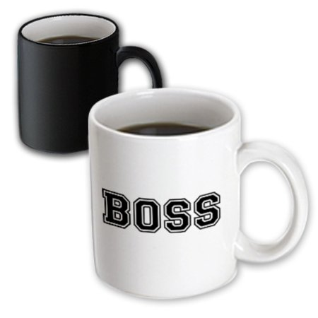 3dRose Boss and proud - funny gag gift for the head in charge - job fun humorous work humor - black text - Magic Transforming Mug, - Homemade Gag Gifts