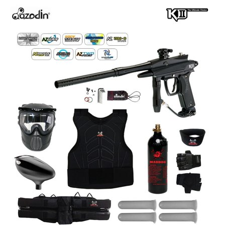 Azodin KDII Semi-Auto Starter Protective CO2 Paintball Gun Package~Green / Silver