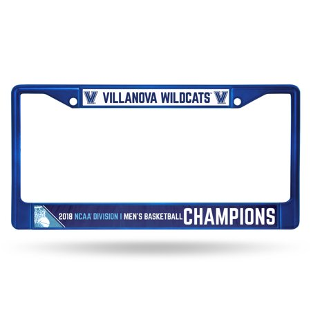 National Champions License Plate - Villanova Wildcats Official NCAA 2018 National Championship Blue License Plate Frame Chrome by Rico 386014