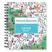 """Spiral-Bound Coloring Book 9""""X8.5""""-Natural Elements"""