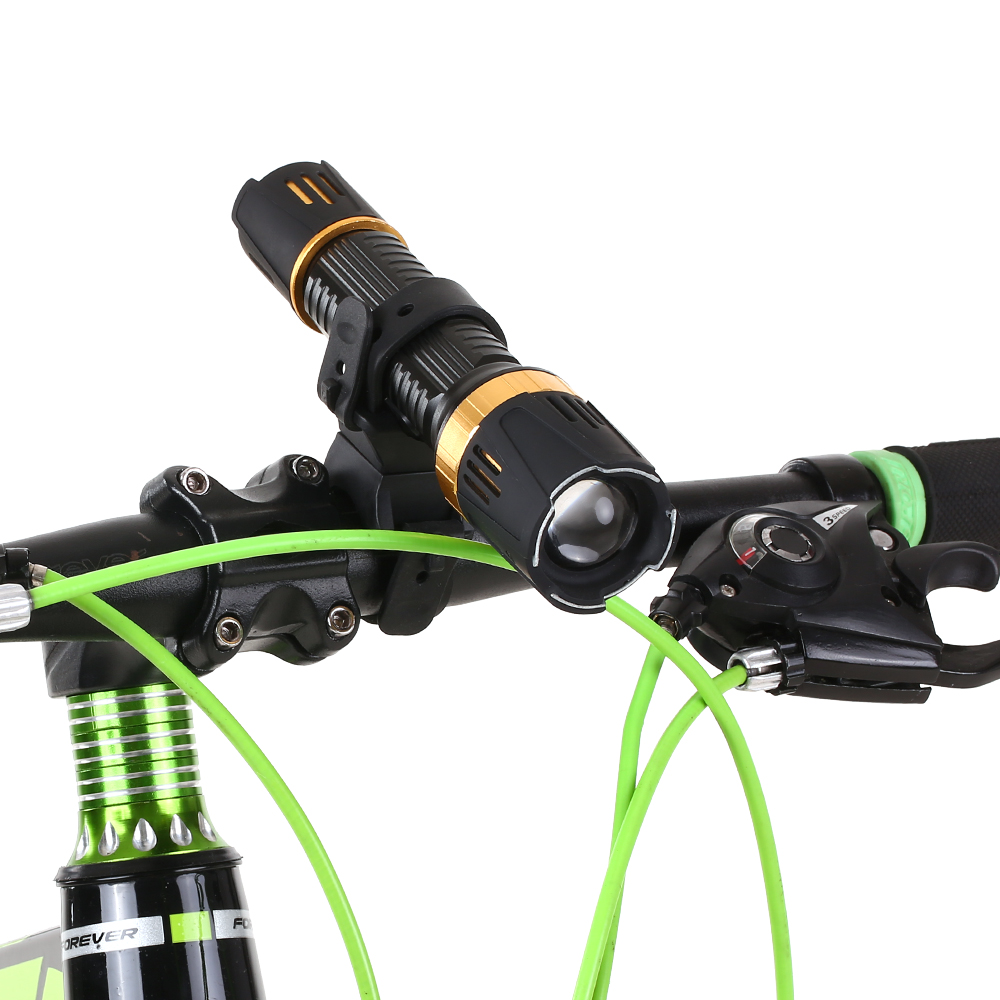 Cycling Flashlight Torch Mount LED Light Holder Clamp Clip 360° Rotation Bicycle