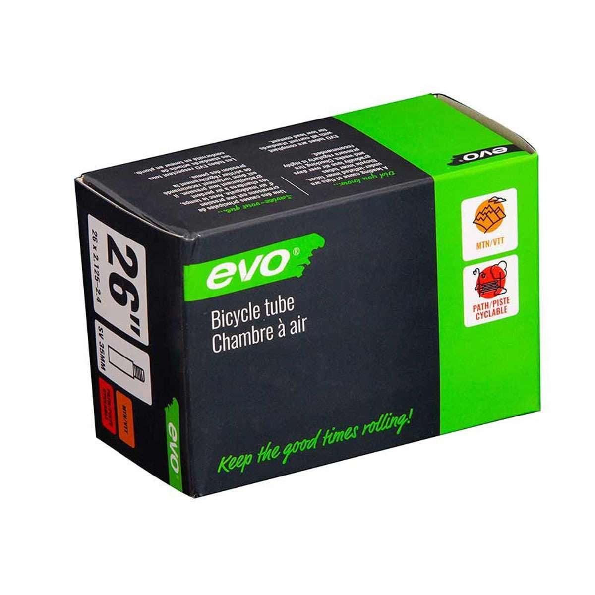 Evo Bicycle Tube - Schrader, 35mm, 26', 2.125-2.40 - 14EV.020176-13