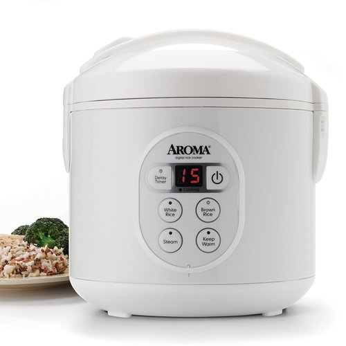 Aroma ARC-914D 4-Cup Cool-Touch Rice Cooker, White