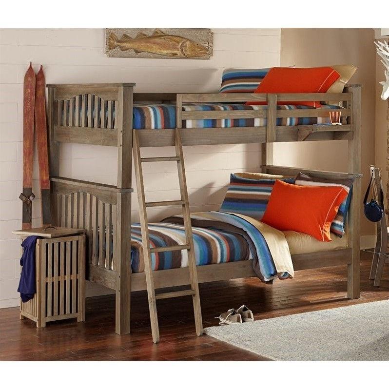 NE Kids Highlands Harper Full Over Full Bunk Bed In Driftwood
