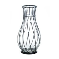 Short Glass Metal Vase