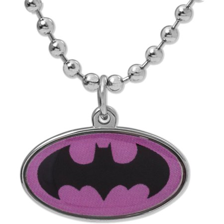 DC Comics Stainless Steel Batgirl Logo Pendant with Chain