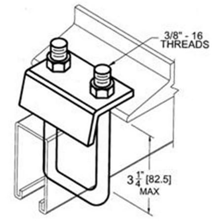 Morris Products 17464 Strut To Beam Clamp With Square U-Bolt For