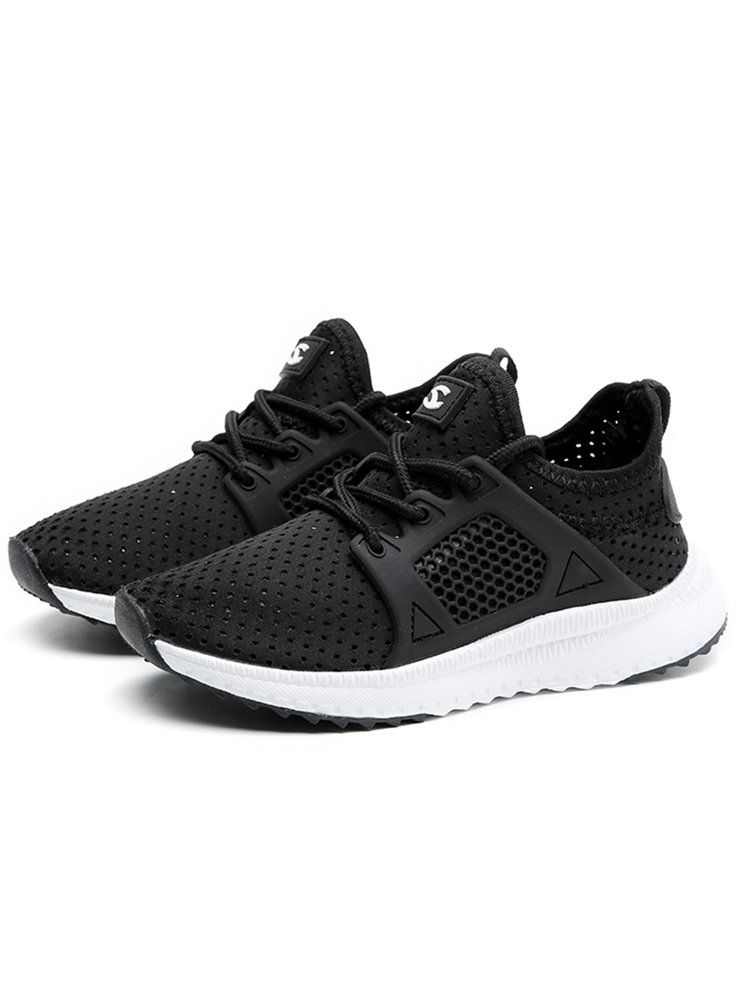 Kids Boys Girls Running Shoes Athletic Comfortable Fashion LightWeight Mesh Slip on Cushion Sneakers