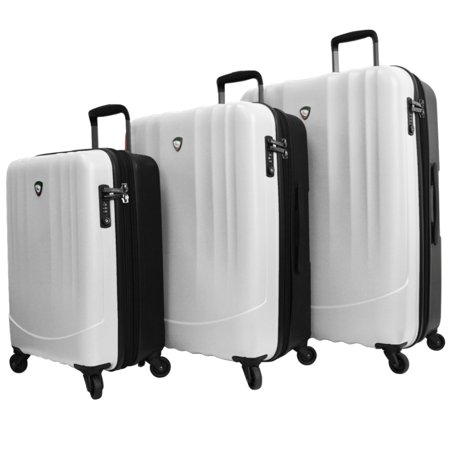 Mia Toro Polipropilene 3 Piece Hardside Spinner Travel Suitcase Luggage Set