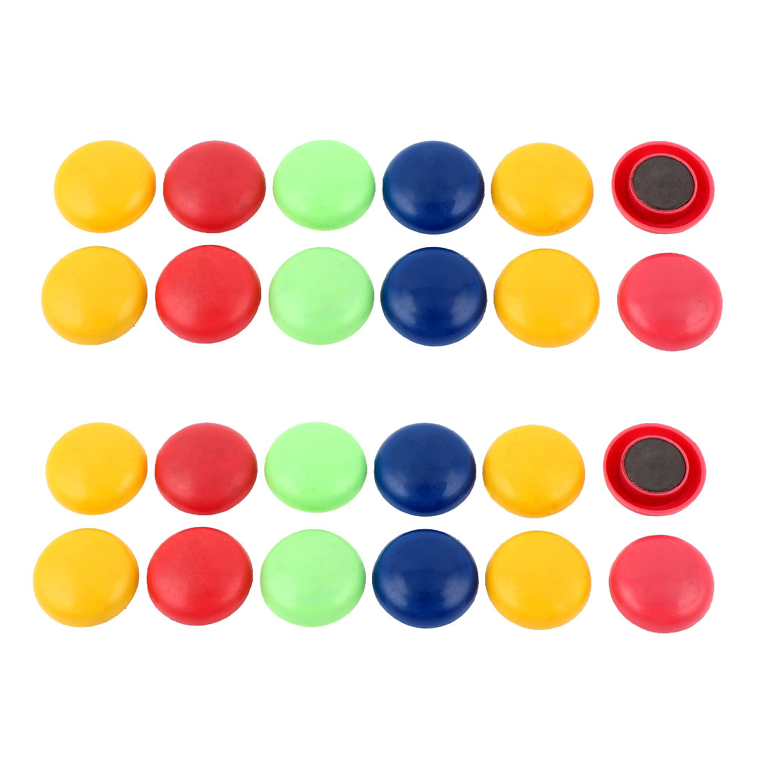 2 Set Multicolor Plastic 3cm Dia Cover Washing Machine Fridge Magnets