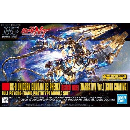 Bandai Gundam NT Narrative Ver. Unicorn Phenex Gold Coating HG 1/144 Model Kit - Gold Model Kit