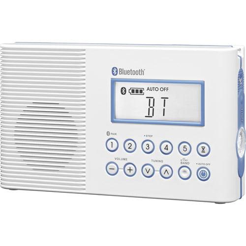 Sangean H202 FM AM Bluetooth Waterproof Shower Radio by Sangean