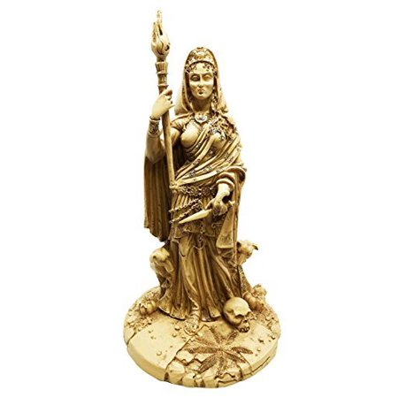 - Greek White Goddess Hecate Sculpture Athenian Patroness of Crossroads, Witchcraft, Dogs and Poisonous Plants Statue (White)
