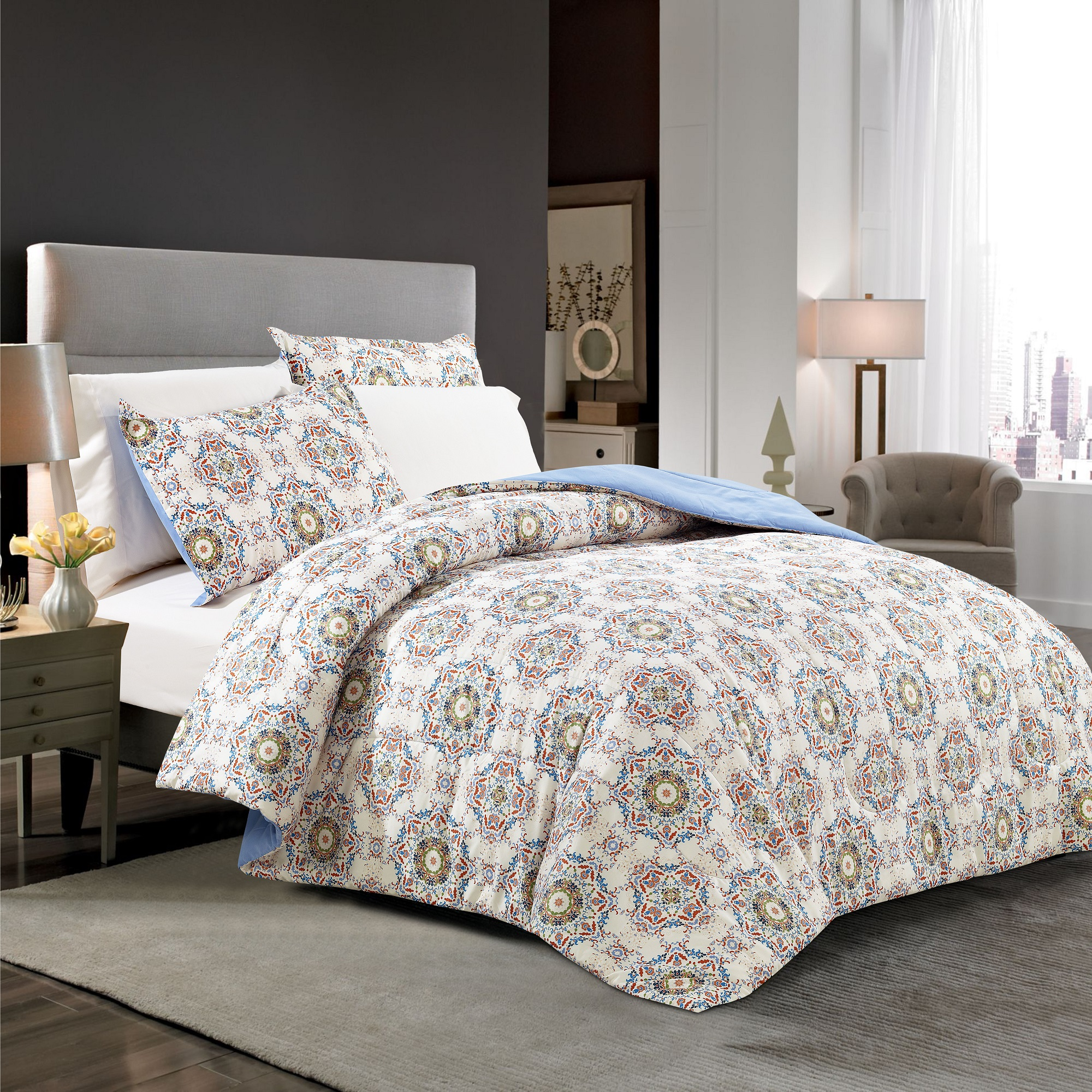 Mainstays Crafted Discoveries Bed-in-a-Bag Complete Bedding Set