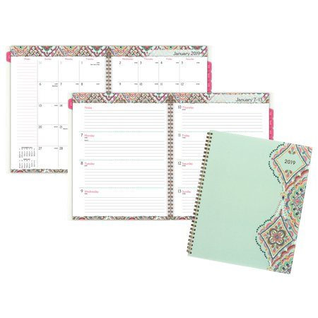 Cambridge Cambridge Marrakesh Weekly Monthly Planner, Large, Light Green -
