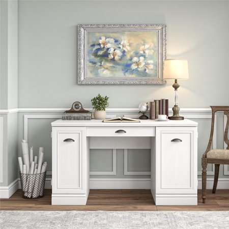 Better Homes & Gardens Dean Double Pedestal Desk, White ()