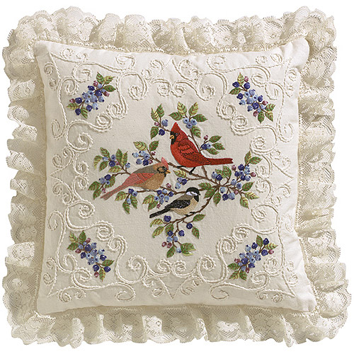 "Janlynn Birds And Berries Candlewicking Embroidery Kit, 14"" x 14"""