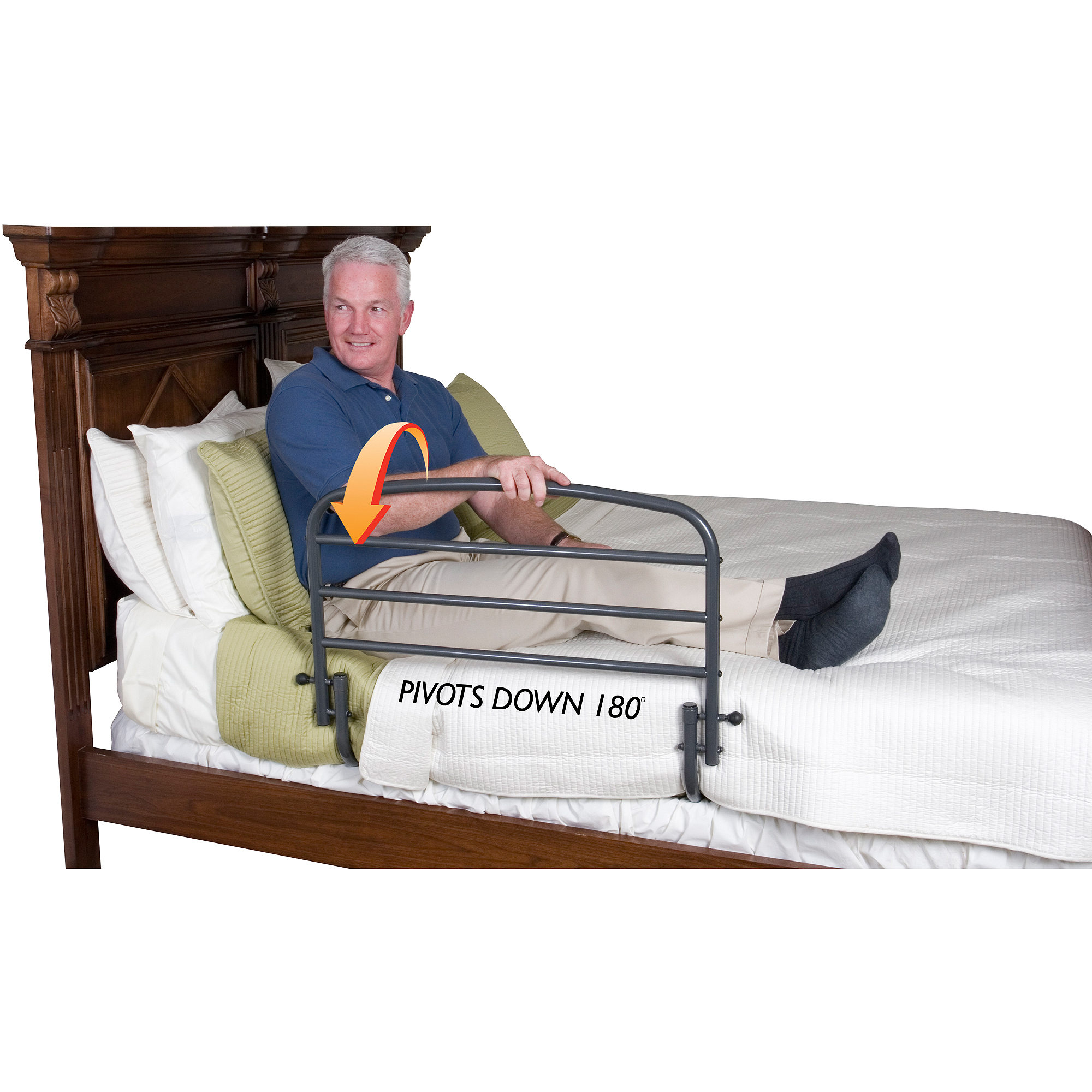 """Stander 30"""" Home Safety Bed Rail with Included Safety Strap"""