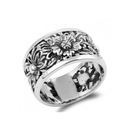 564d8f254 Royal Design - 925 Sterling Silver Sunflower Ring - Walmart.com