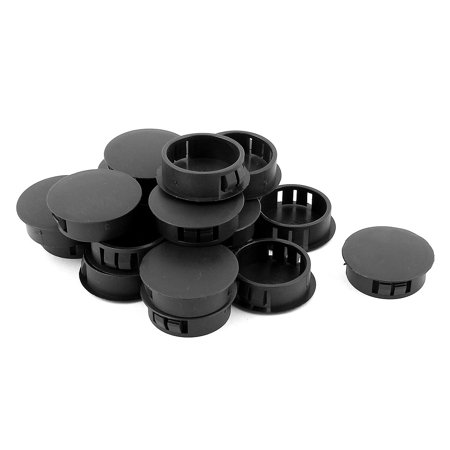 30Pcs SKT-30 Black Insulated Snap in Mounting Locking 30mm Panel Hole (30mm Holes)