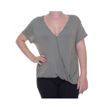 Free People Army Top Blouse Short Sleeve Size M Nwt   Movaz