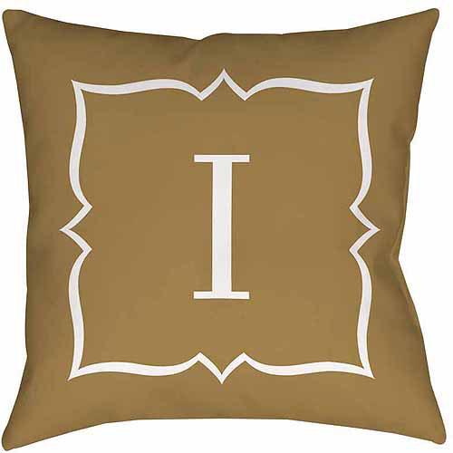 MWW, Inc. Thumbprintz Gold Script II Monogram Decorative Pillows