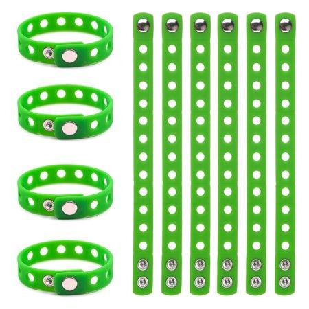 GOGO 10 PCS Kids' Rubber Bracelet, Adjustable Wristband Fit Shoe Jibbitz Crocs Charms (Confidence Wristbands)