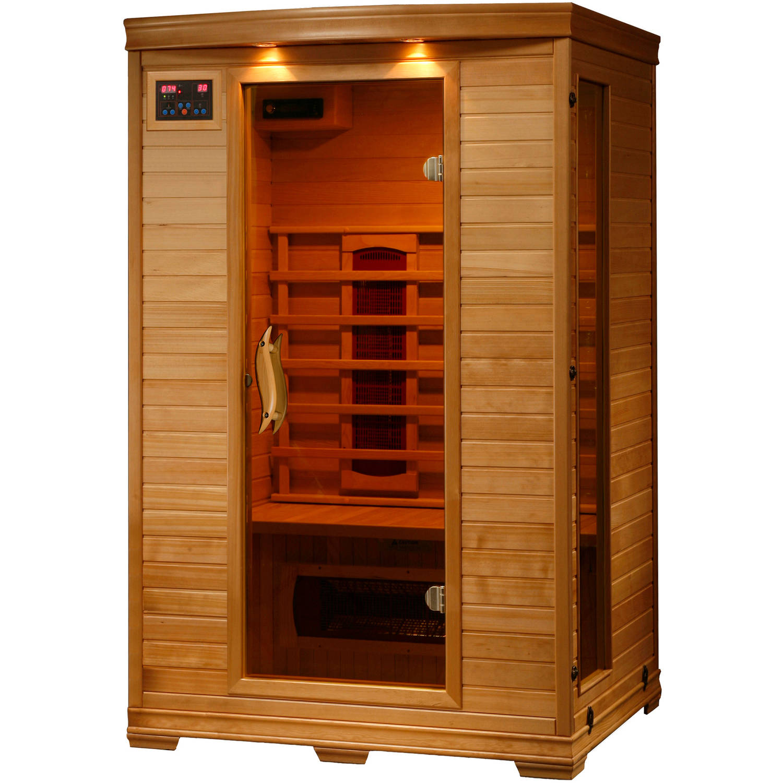 Radiant Saunas 2-Person Hemlock Deluxe Infrared Sauna with 5 Ceramic Heaters