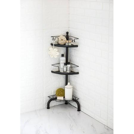 HomeZone 3-Tier Adjustable Corner Shower Caddy, Oil-Rubbed Bronze ()