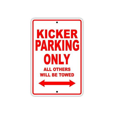 Kicker Football Player Parking Only Gift Decor Novelty Garage Aluminum 8