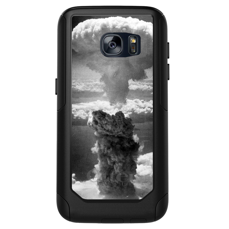 DistinctInk™ Custom Black OtterBox Commuter Series Case for Samsung Galaxy S7 - Nuclear Mushroom Cloud