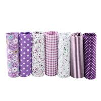 LYUMO 7pcs 50*50cm Cotton Fabric DIY Assorted Squares Pre-Cut Bedding Kit Quarters Bundle,Bedding Cotton Fabric, Pre-Cut Bedding Suite