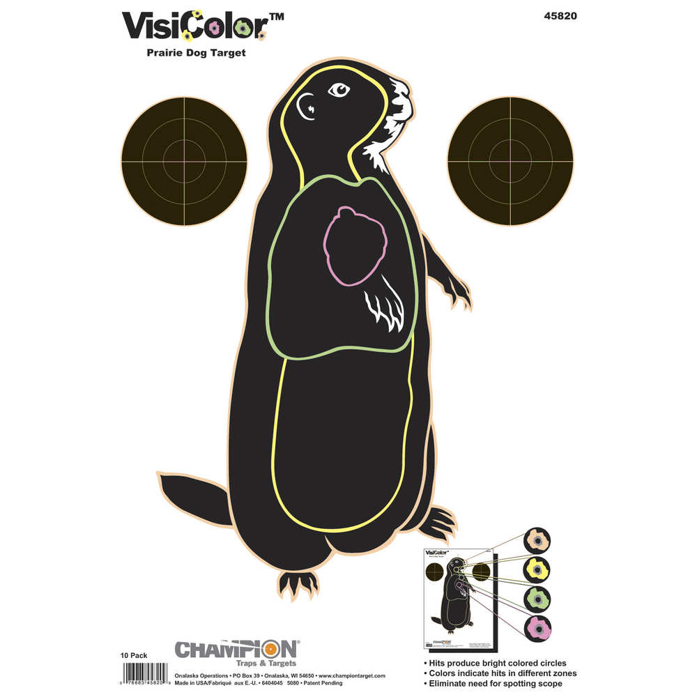 Champion VisiColor Target Prairie Chuck, 10-Pack