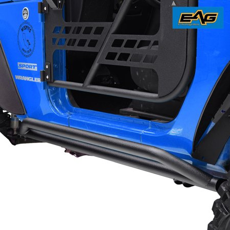 EAG Side Armor Rock Guards - fits 07-18 Jeep Wrangler JK 2