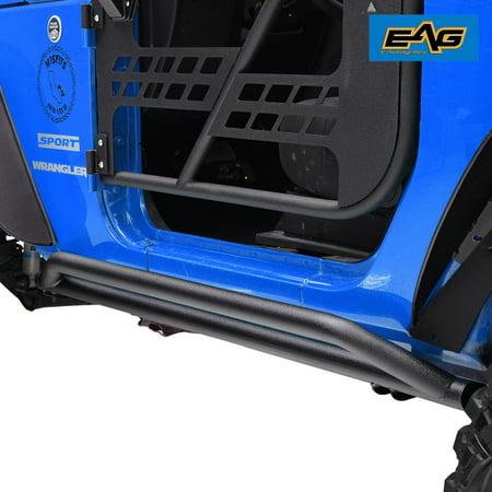 EAG Side Armor Rock Guards - fits 07-18 Jeep Wrangler JK 2 Door - Jeep Wrangler Body Armor