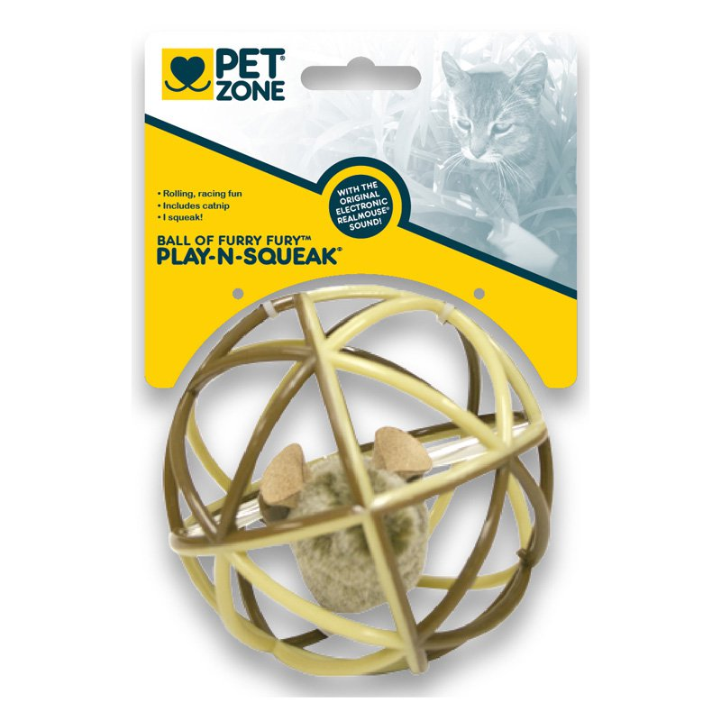 Our Pets 1550012625 Ball Of Furry Fury Cat Toy Assorted Styles