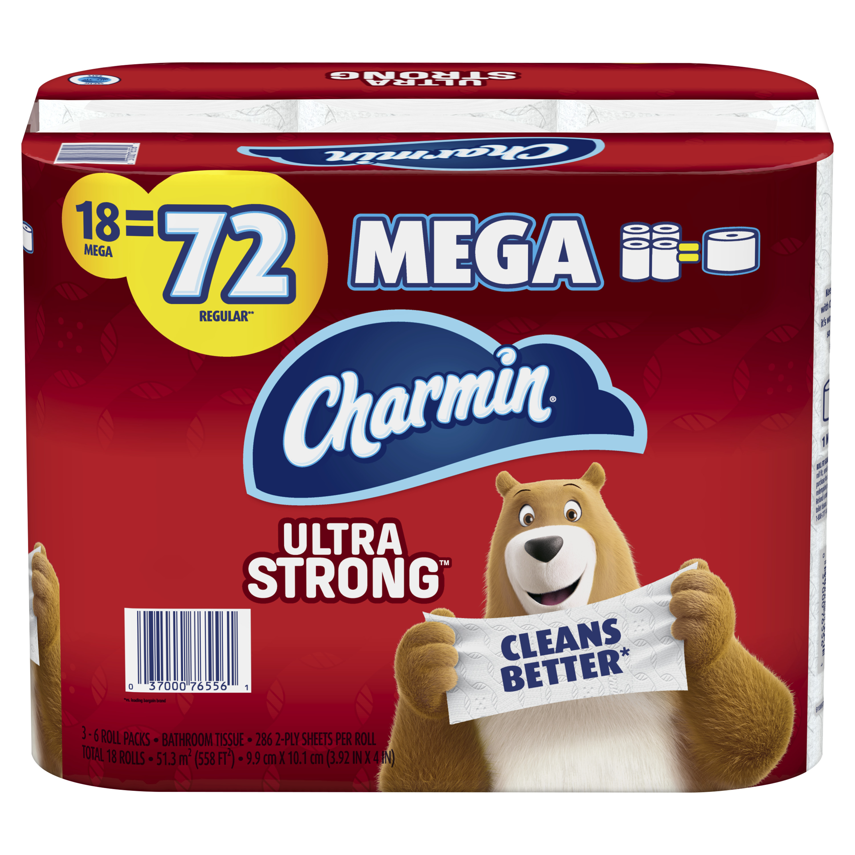 how many sheets in a roll of charmin toilet paper