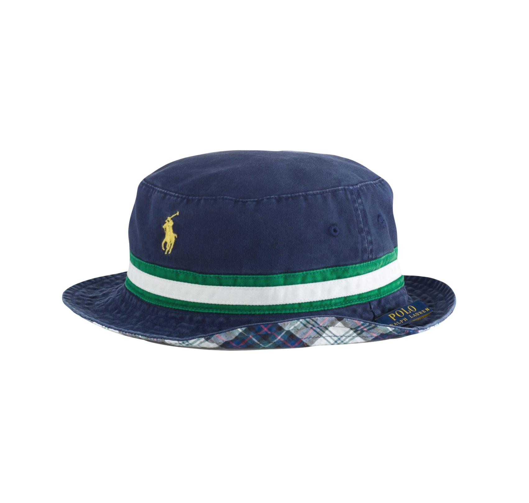 Ralph Lauren Men's Reversible Cotton Bucket Floppy Hat Na...