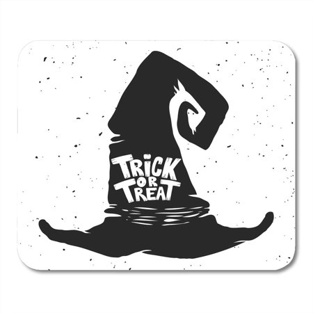 LADDKE Cap Black Autumn Trick Treat Witch Hat with Lettering Halloween Design for White Best Cartoon Mousepad Mouse Pad Mouse Mat 9x10 inch](Best Halloween Cartoons)