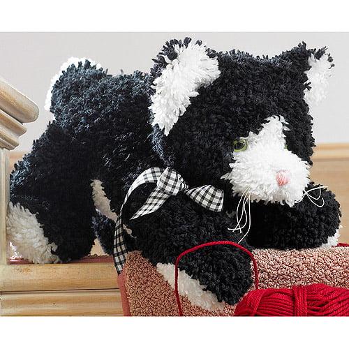"M C G Textiles Huggables Kitty Stuffed Toy Latch Hook Kit, 17"" Long"