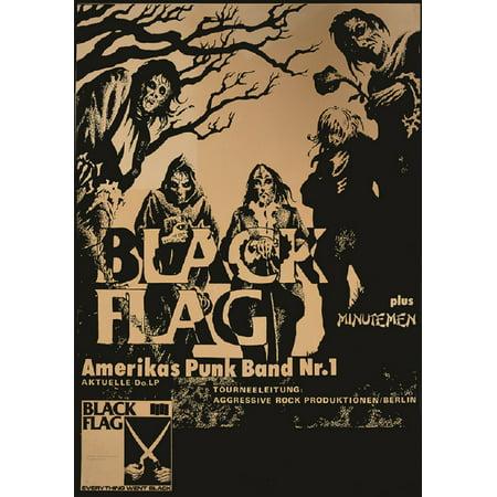 FLAG by Annex Black Flag Punk Rock Vintage Concert Band Poster Art Poster Print for $<!---->