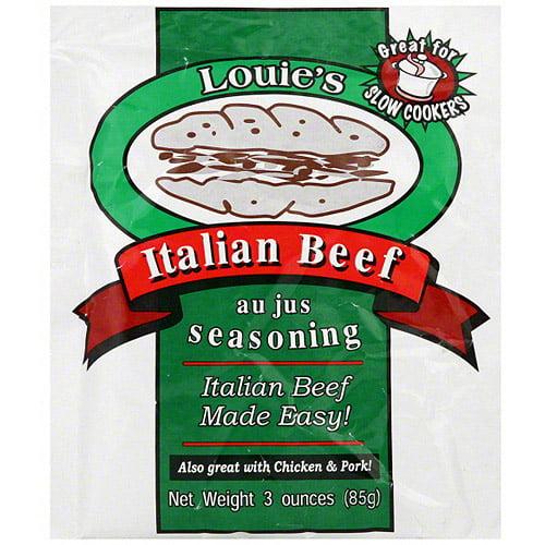 Louie's Italian Beef Au Jus Seasoning, 3 oz (Pack of 24)