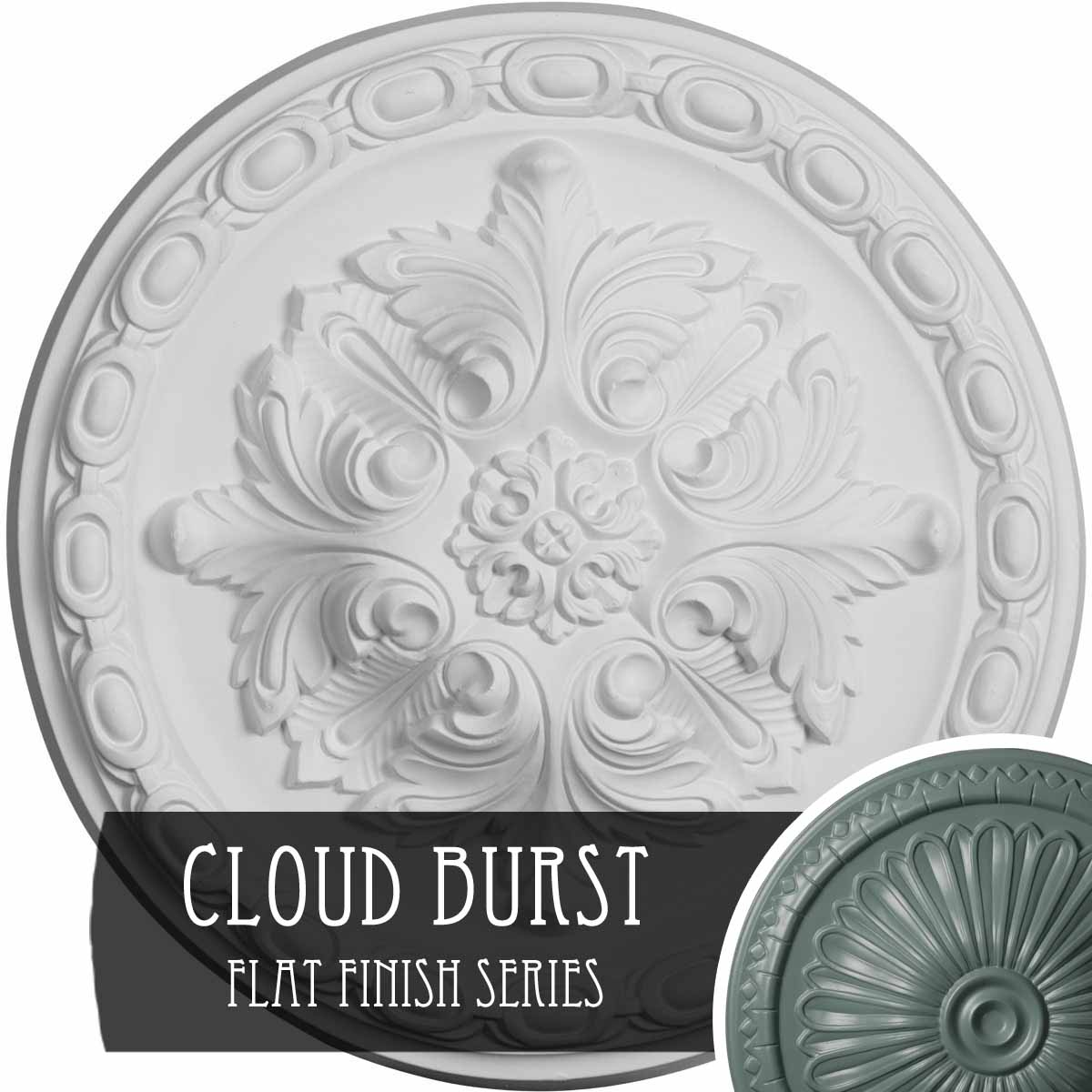 """12 1/8""""OD x 3 1/2""""ID x 1""""P Palmetto Ceiling Medallion (Fits Canopies up to 4 7/8"""")"""