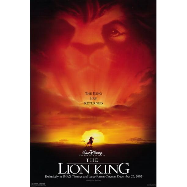 The Lion King Movie Poster Style A 11 X 17 2002 Walmart Com Walmart Com