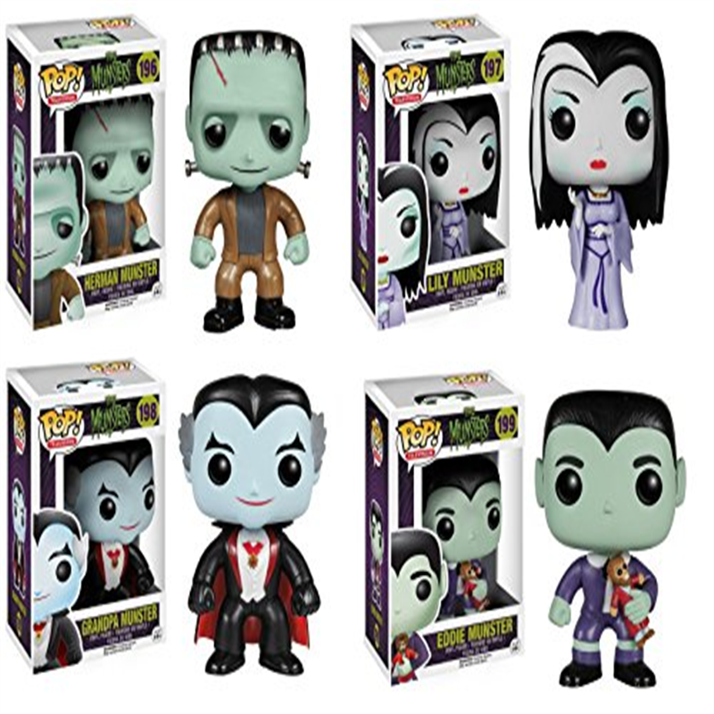 Munsters Lily Eddie Herman Grandpa Munster Pop! Vinyl Figures Set of 4