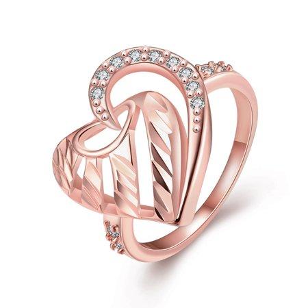 Aventura Jewellery Swarovski ElementsGold Plated Triangular Love Knot Ring