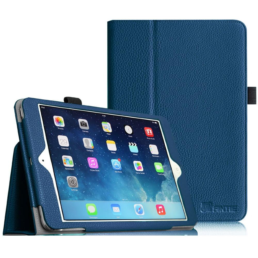iPad mini 3 / iPad mini 2 / iPad mini Case - Fintie Folio Cover Slim Fit PU leather with Auto Sleep/Wake, Navy