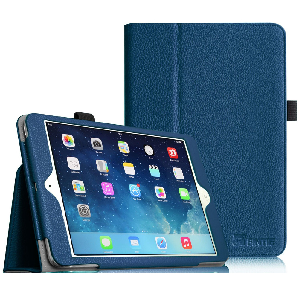 iPad mini 3 / iPad mini 2 / iPad mini Case - Fintie Folio Cover Slim Fit PU leather with Auto Sleep/Wake, Navy