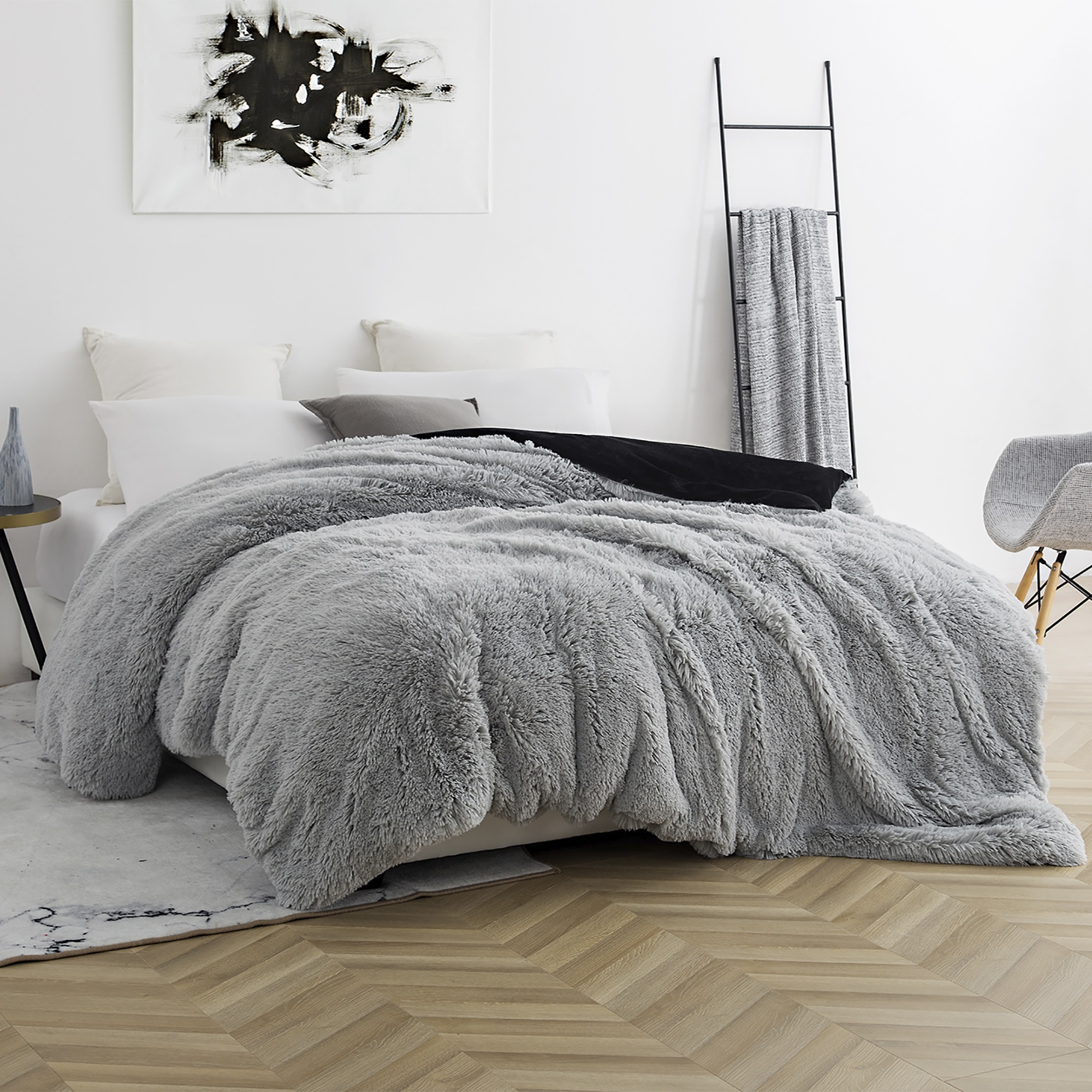 Coma Inducer Duvet Cover - Are You Kidding? - Glacier Gray/Black